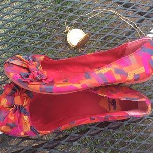 Rocket dog pretty pink canvas ballet flats sz 7